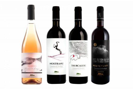 Cantina Berritta-Cannonau Complete Selection, quattro vini, COFANETTO IN OMAGGIO