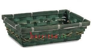 Cesta rettangolare bambù
