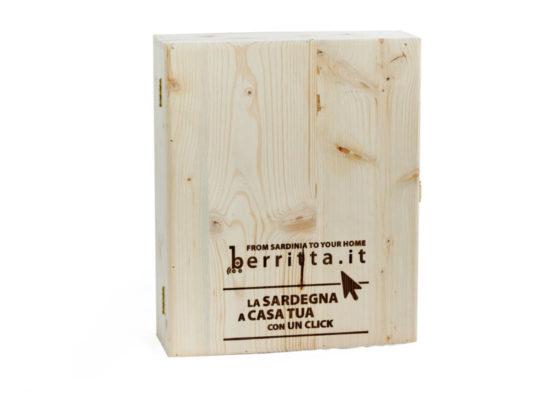 Cassetta in legno da tre bottiglie